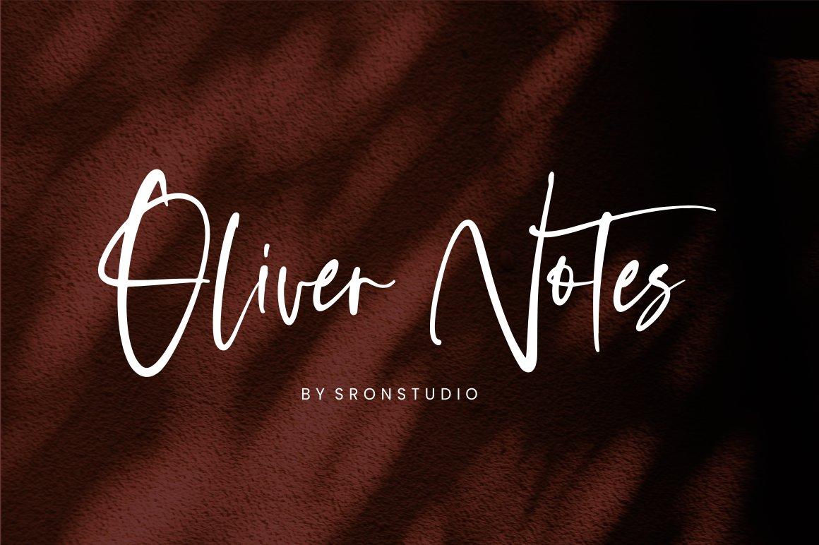 Oliver-Notes-Font