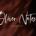 Oliver Notes Handwritten Font