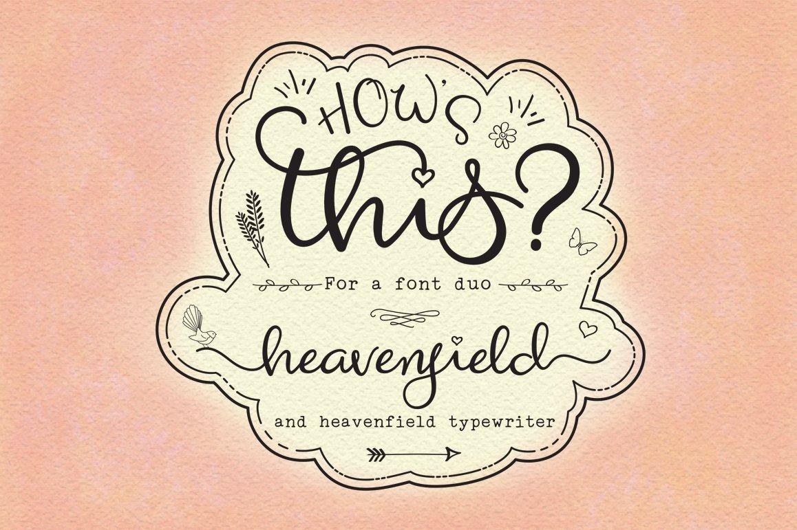 Heavenfield-Wedding-Font