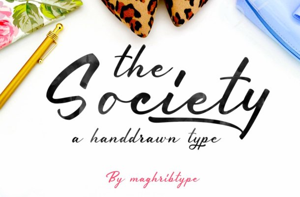 Society typeface Font
