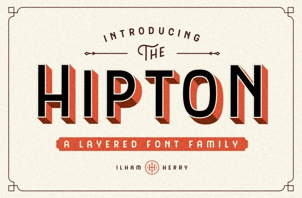 The HIPTON Font Family