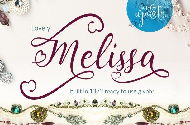 Lovely Melissa Script Font