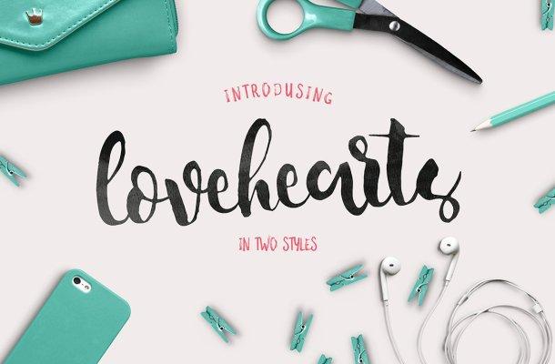 Lovehearts Script Font