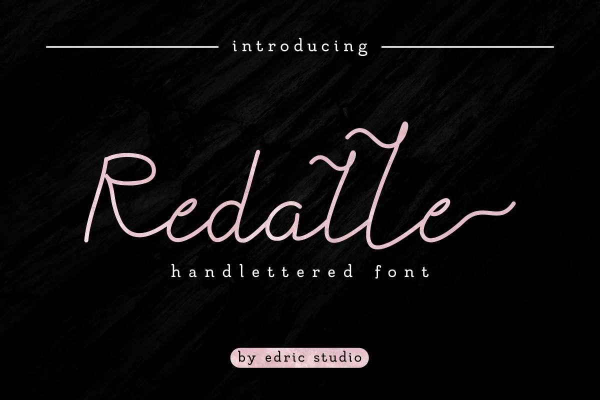 Redalle-Handlettered-Font