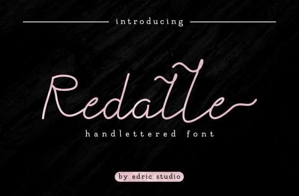 Redalle Handlettered Font