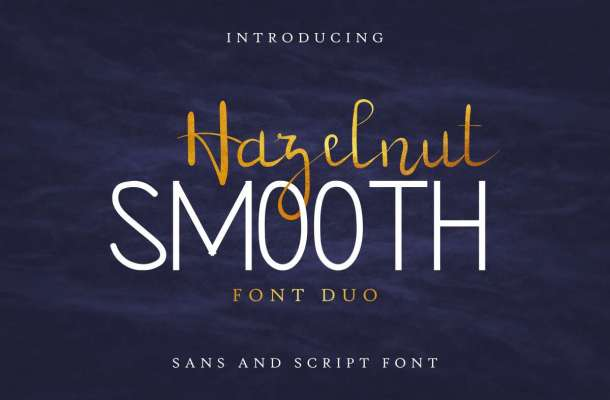 Hazelnut Smooth Font Duo