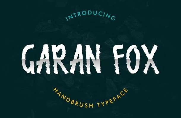 Garan Fox Brush Font
