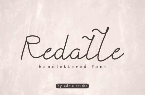 Redalle Monoline Handlettered Font