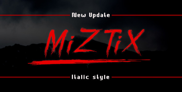 MiZTix Display Font