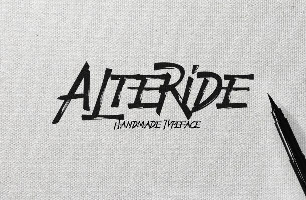 Alteride Brush Font