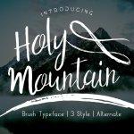 Holy Mountain Font Family