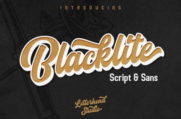 Blacklite Bold Script Font