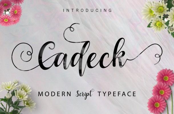 Cadeck Script Font