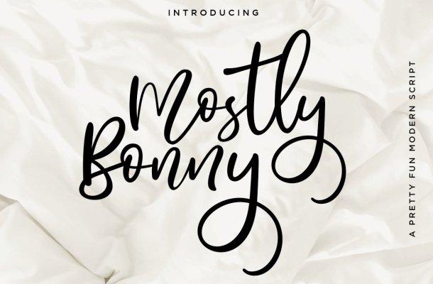 Mostly Bonny Script Font
