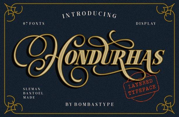 Hondurhas Layered Font