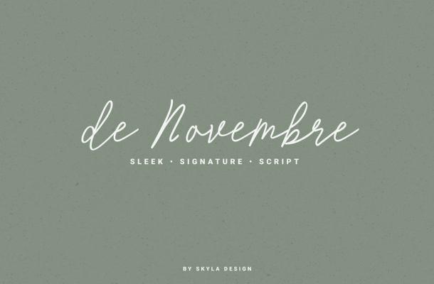 de Novembre Signature Font