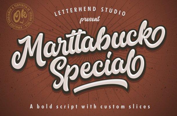 Marttabuck Script Font