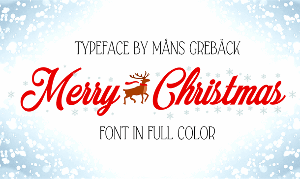 Merry Christmas Color Font