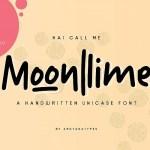 Moonlime Handwritten Font