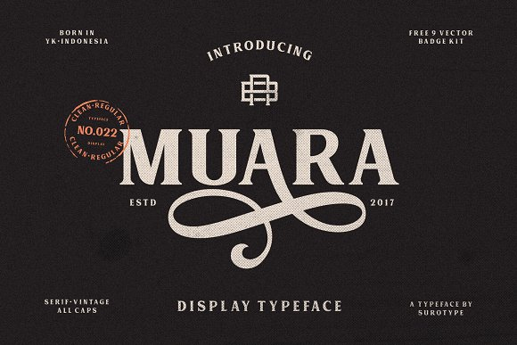 MUARA Display Font