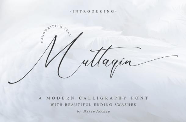 Muttaqin Calligraphy Font