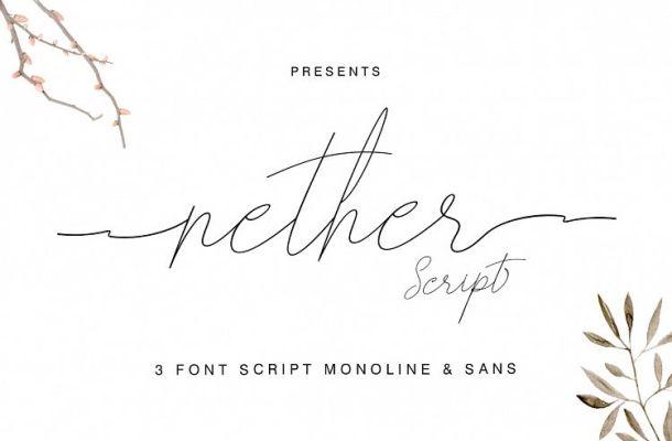 Nether Script Font