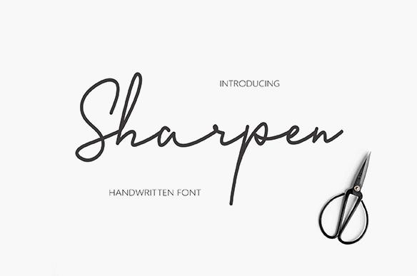 Sharpen Script Font