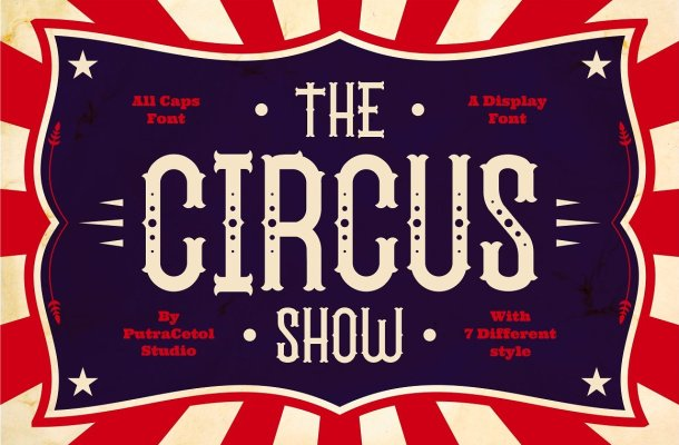 The Circus Show Display Font