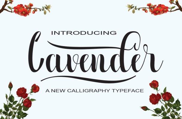 Lavender Script Font