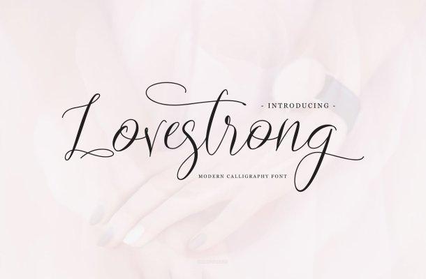 Lovestrong Script Font