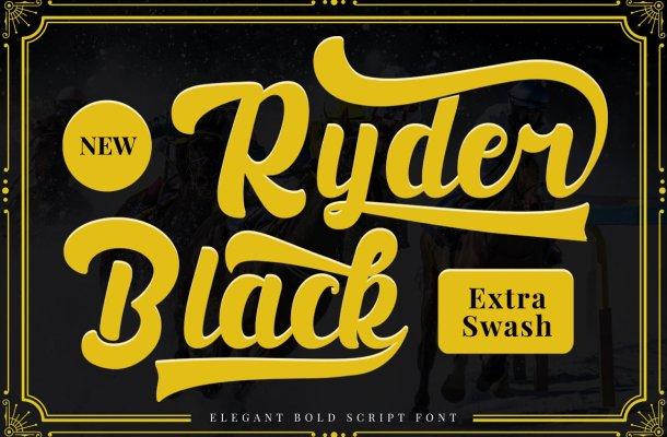 Black Ryder Bold Script Font