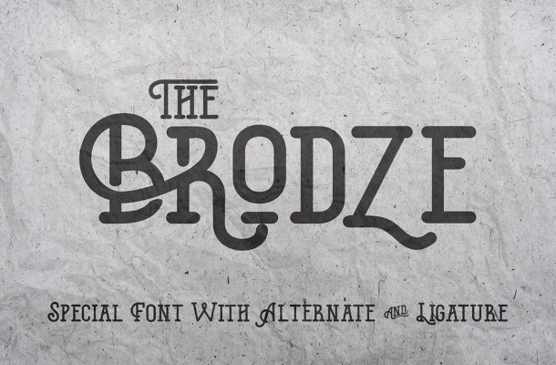 The Brodze Typeface