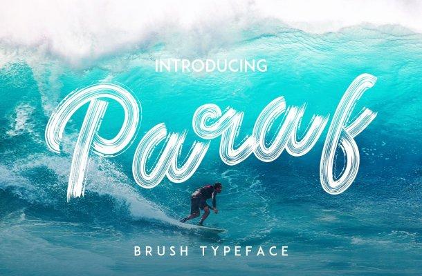 Paraf Brush Font
