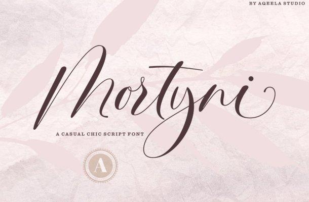 Mortyni Script Font