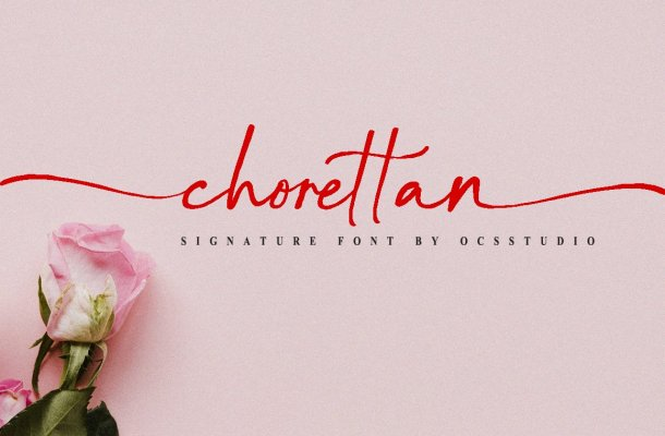 Chorettan Signature Font