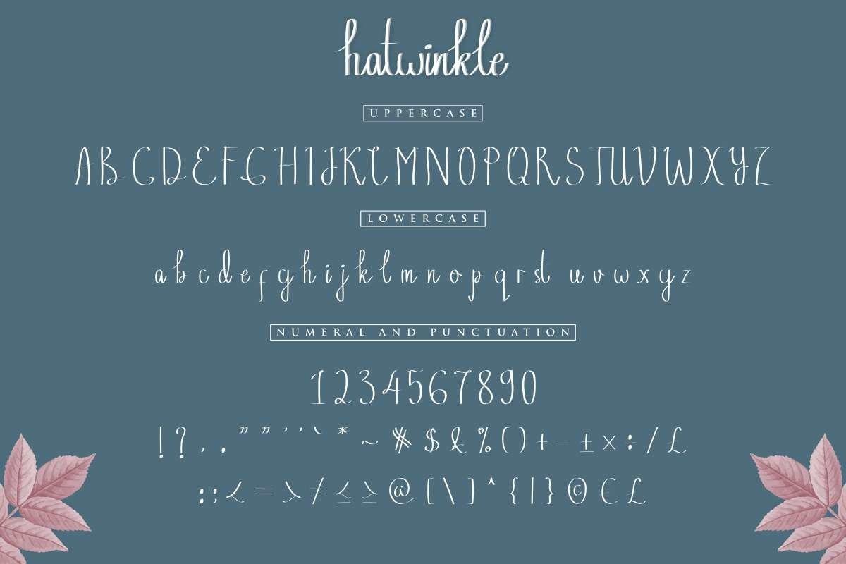 Hatwinkle-Font-4