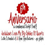 6th Aniversario A Condensed Font