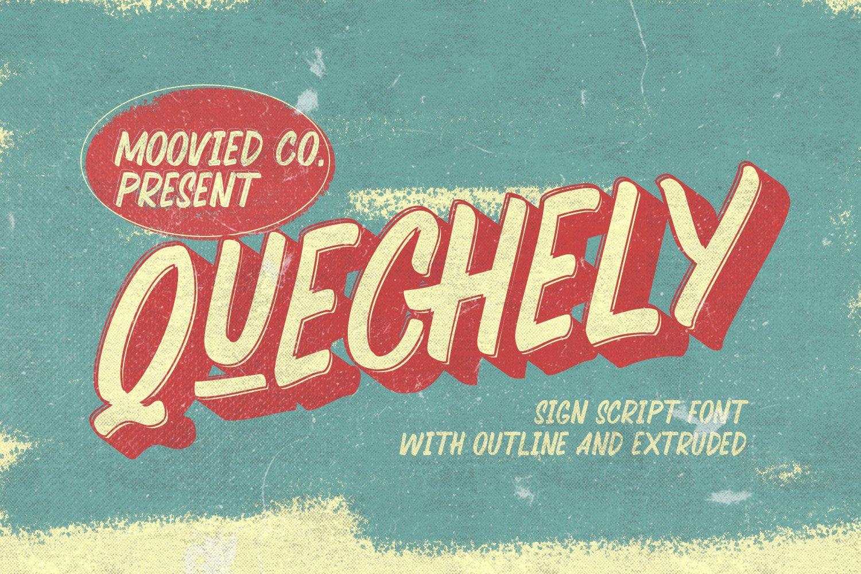 Quechely-Schrift-Font