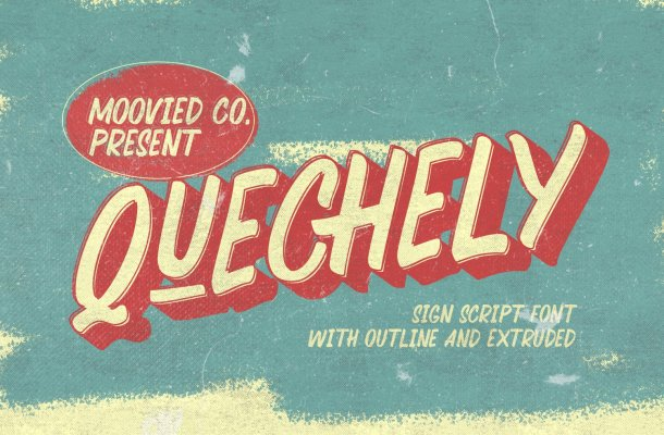 Quechely Sign Retro Font