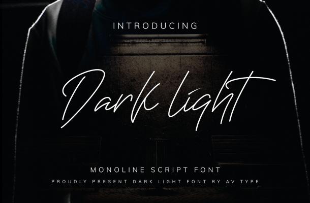 Darklight Script Font