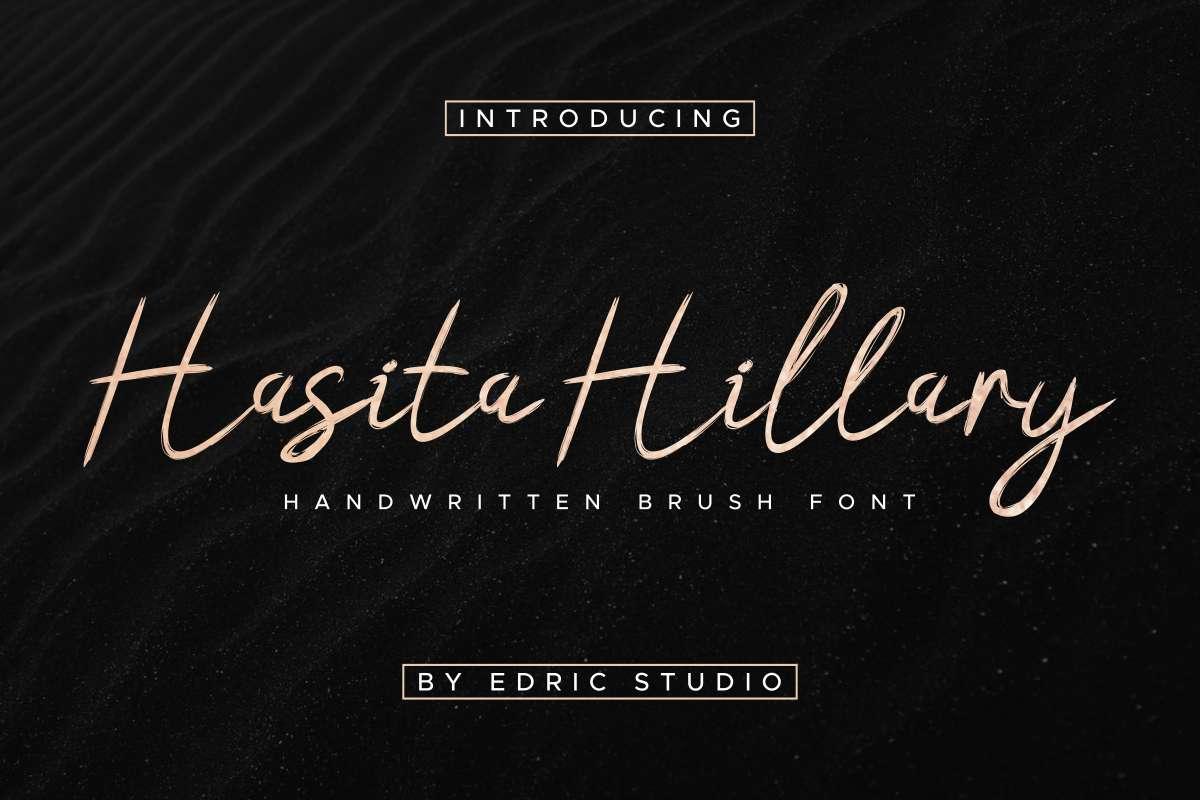 Hasita-Hillary-Font