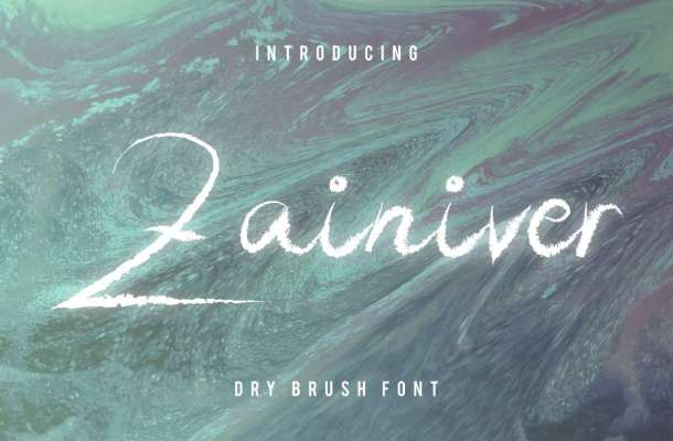 Zainiver Brush Font