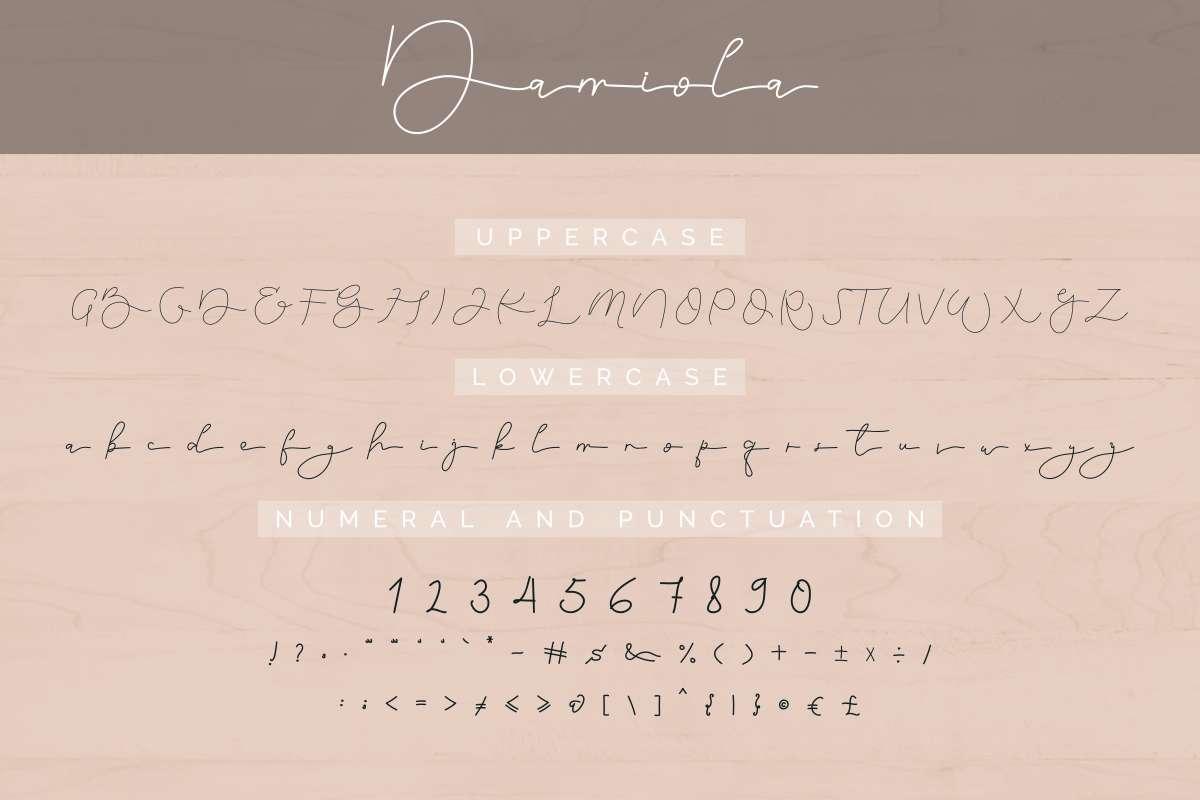 Damiola-Schrift-Font-3