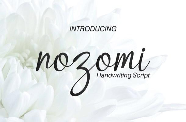 Nozomi Handwriting Script Font