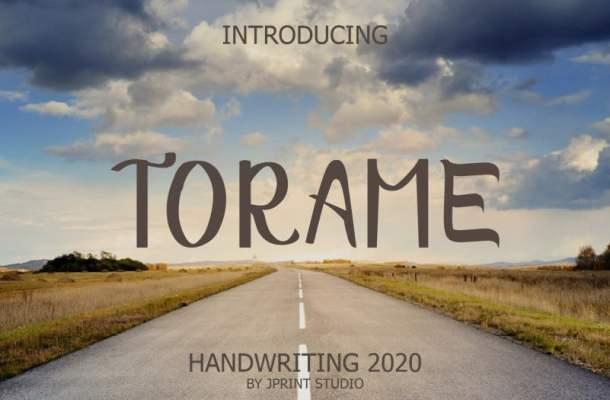 Torame Handwriting Font