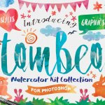Tombeo Watercolor Kit Font Collection