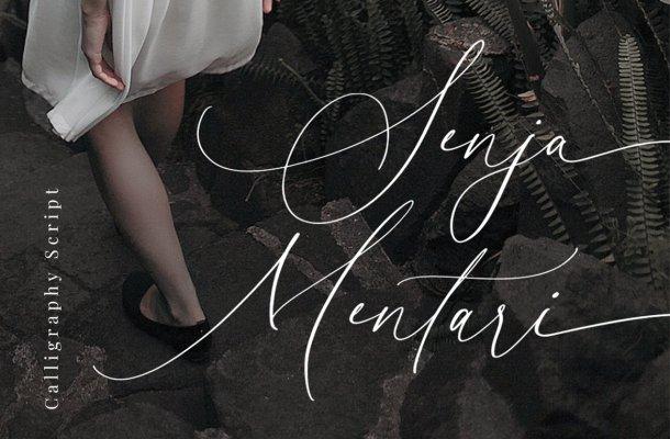 Senja Mentari Calligraphy Font