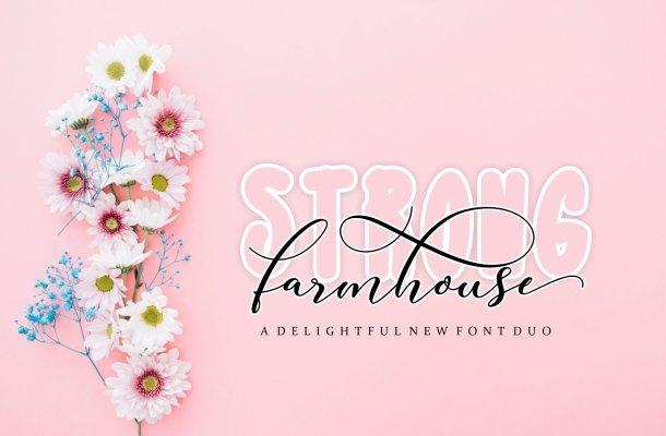 Strong Farmhouse Font Duo