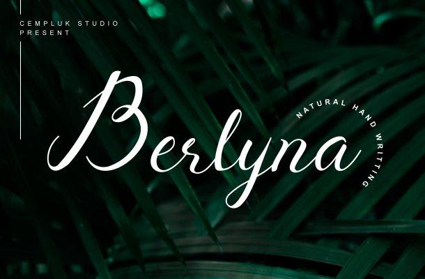 Berlyna – Modern Script Font