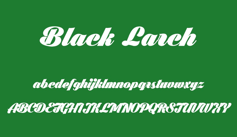 Black-Larch-Font-2